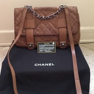 100% Chanel distressed country calfskin handbags